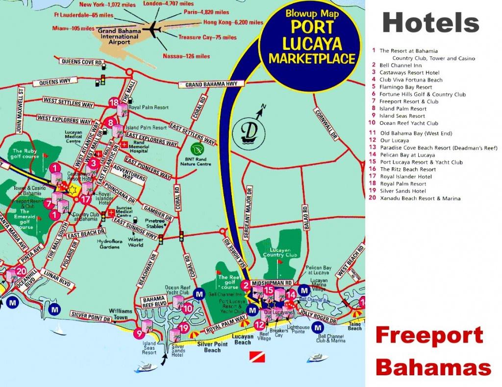 Freeport Hotels Map - Map Of Florida And Freeport Bahamas
