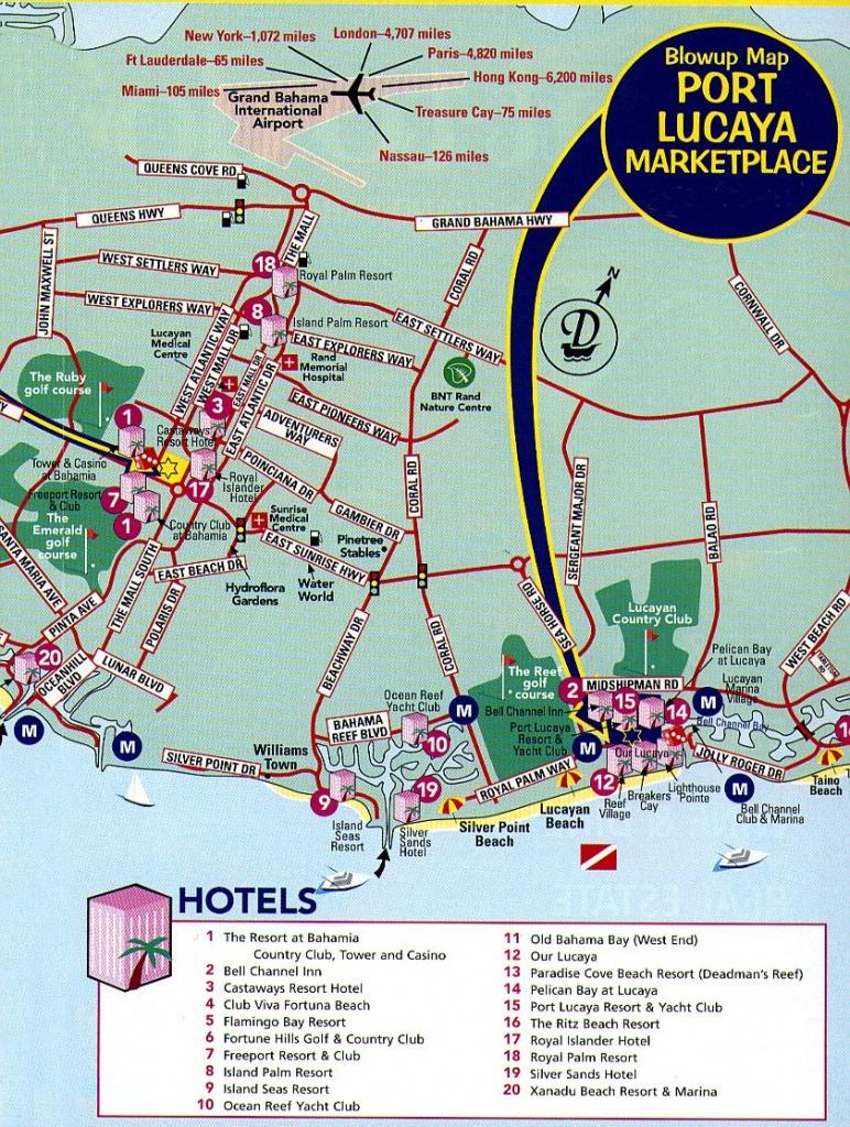 Freeport Tourist Map - Freeport Bahamas • Mappery | Vacation - Map Of Florida And Freeport Bahamas