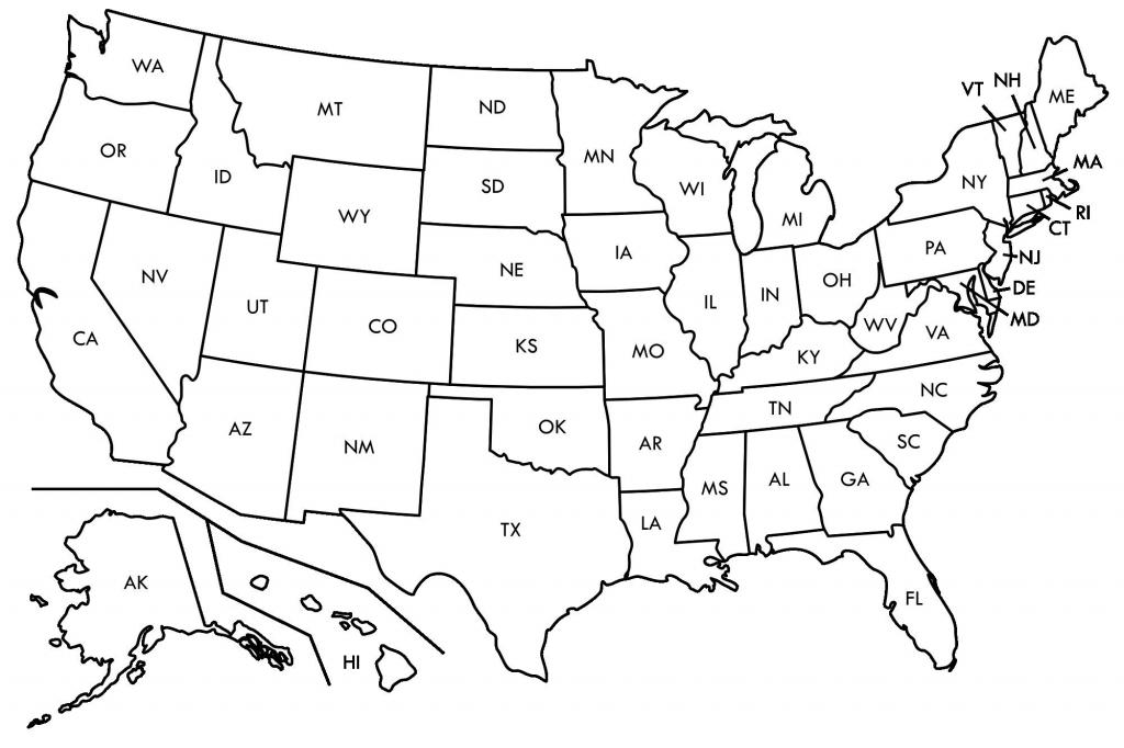 Fresh Free Printable Us Map Blank Usamap | Beykoz-Kurye - Usa Map Black And White Printable