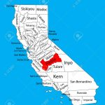 Fresno County (California, United States Of America) Vector Map   Fresno California Map