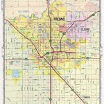 Fresno Street Map. Large Scale Detailed Streets Map Fresno Sity   California Street Map
