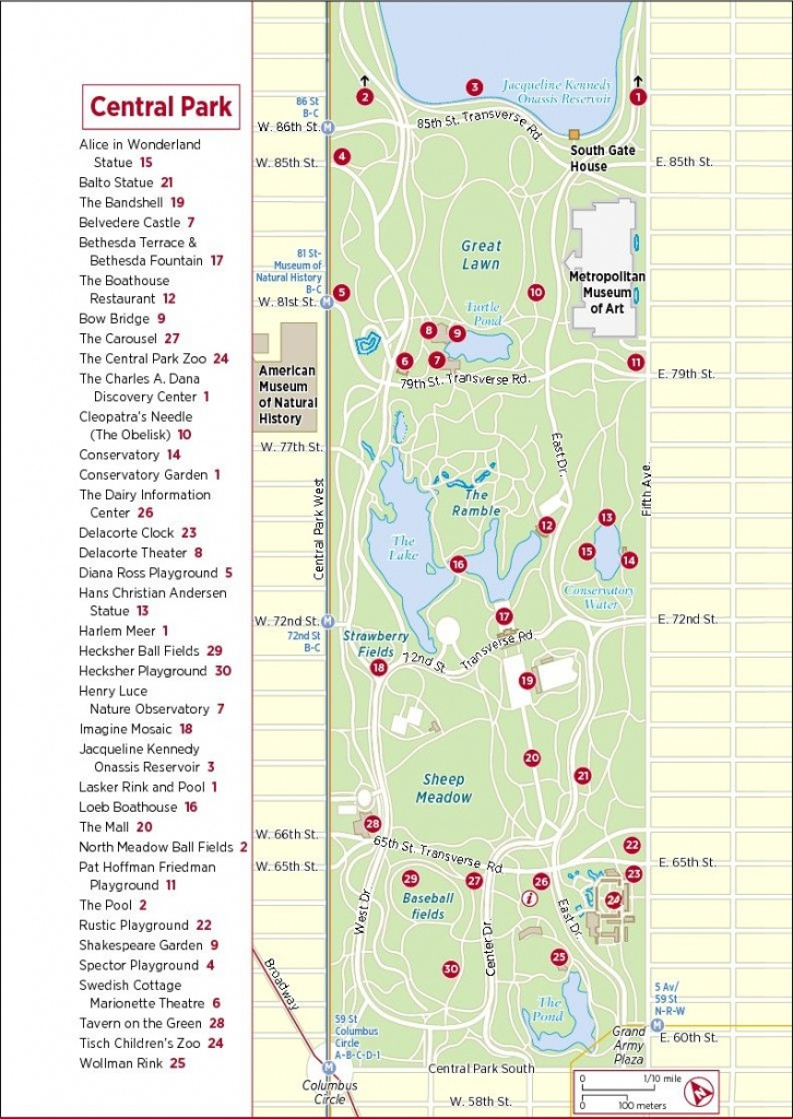 Frommer's Map Of Central Park | Nyc In 2019 | Map Of New York, New - Printable Map Of Central Park Nyc