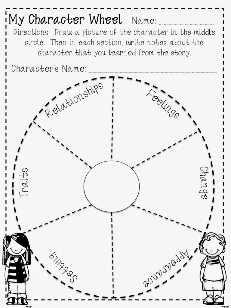 Fun Character Wheel Printable For Any Book! Free! | Teaching 4/5 - Free Printable Character Map