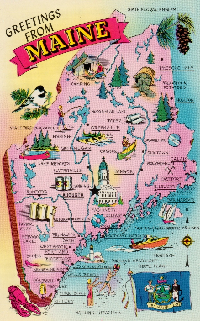 Fun Map Of The State Of Maine! We Are Located In Madison, Near - Printable Map Of Maine Coast