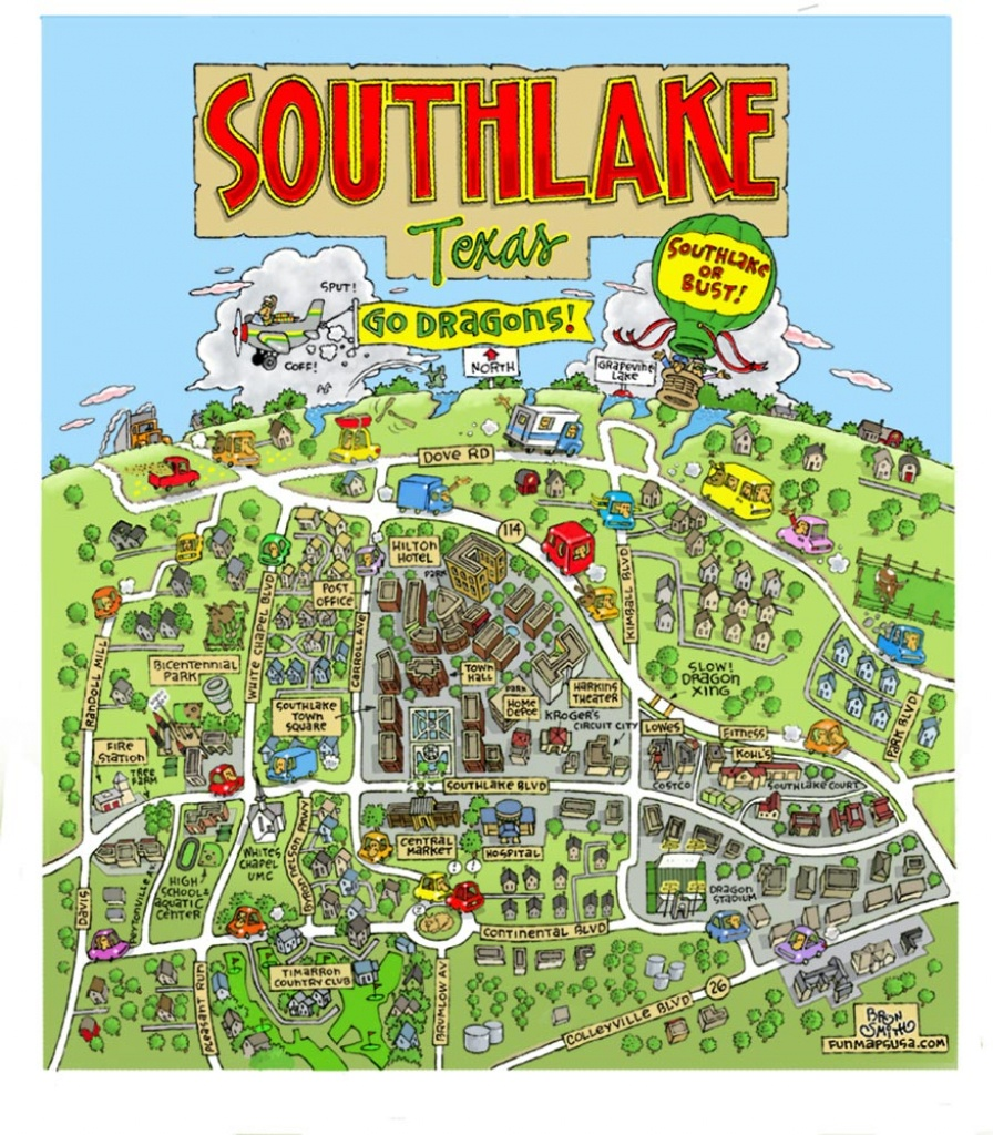 Fun Maps Usa - Southlake Texas Map