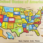 Fun Solving The United States Map Wood Puzzle | Melissa & Doug Usa   California Map Puzzle