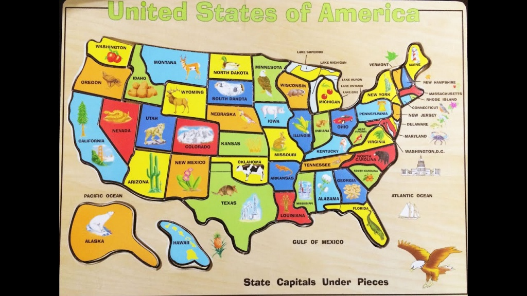 Fun Solving The United States Map Wood Puzzle | Melissa & Doug Usa - California Map Puzzle