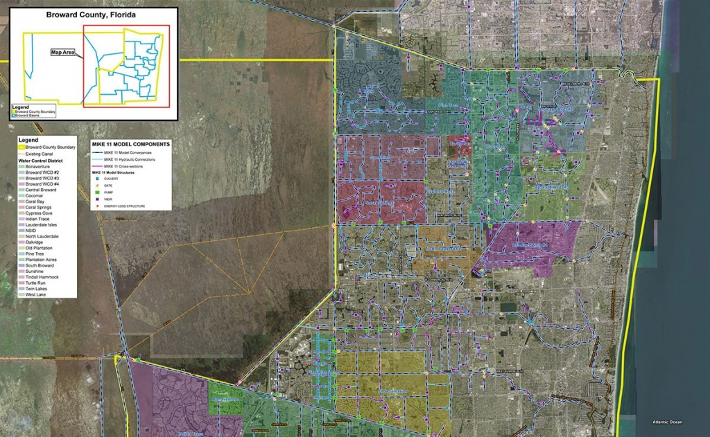 Future 100-Year Flood Elevation Map Project For Broward County, Florida - 100 Year Flood Map Florida