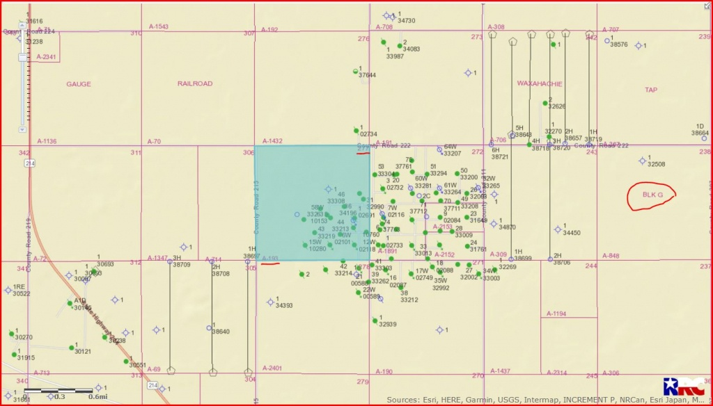 Gaines County Texas Oil And Gas Permits - Gaines County, Tx - Gaines County Texas Section Map