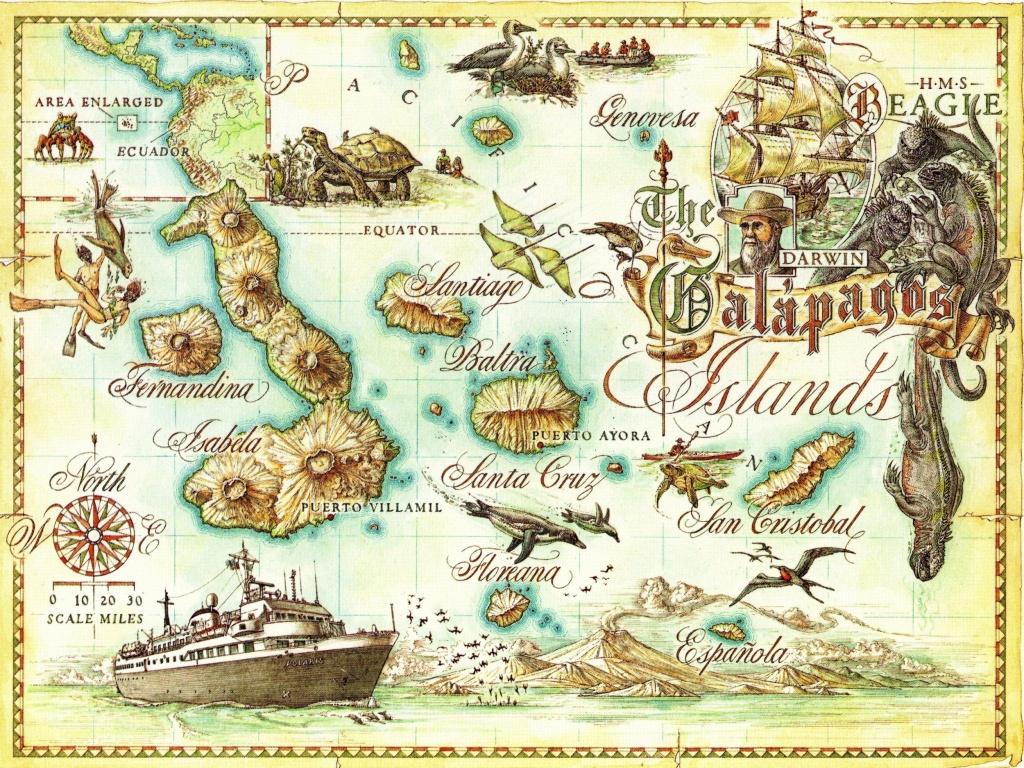 Galapagos Islands Map - Galapagos Islands • Mappery | Baby/bridal - Printable Map Of Galapagos Islands