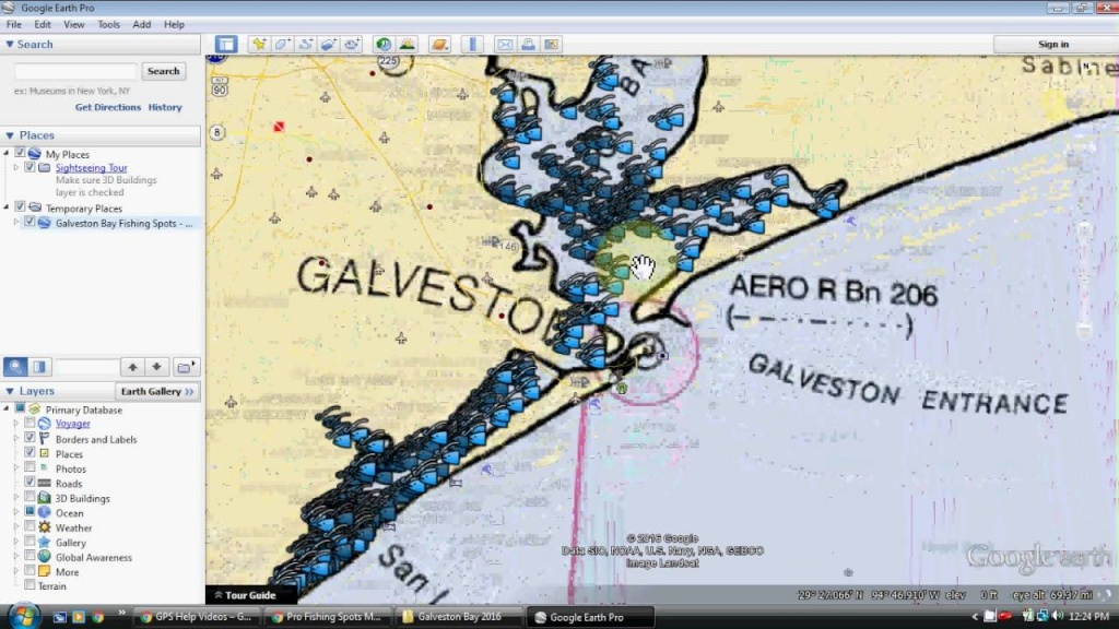 Galveston Bay Fishing Map - Youtube - Texas Wade Fishing Maps