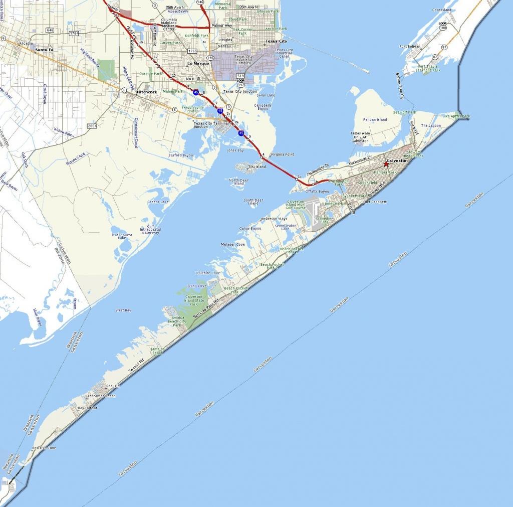 Galveston Island   The Handbook Of Texas Online  Texas State - Map Of Galveston Texas