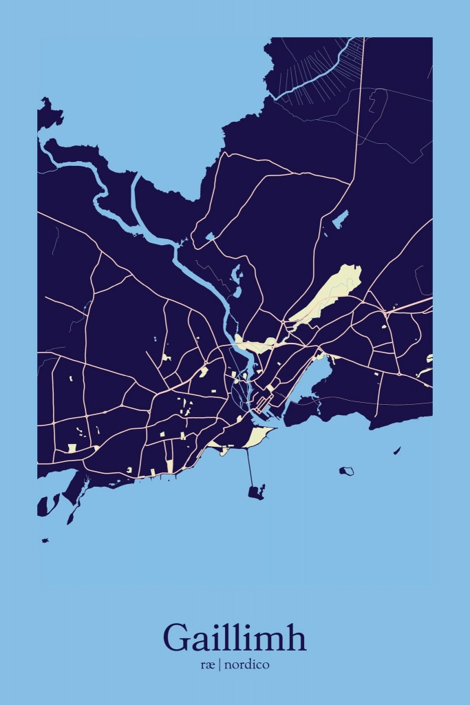 Galway, Ireland Map Print   Maps   Ireland Map, Ireland, Galway Ireland - Galway City Map Printable
