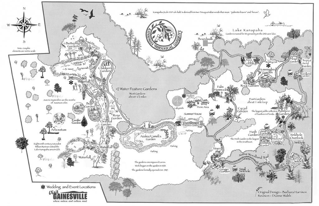 Garden Map | Kanapaha Botanical Gardens - Florida Botanical Gardens Tourist Map