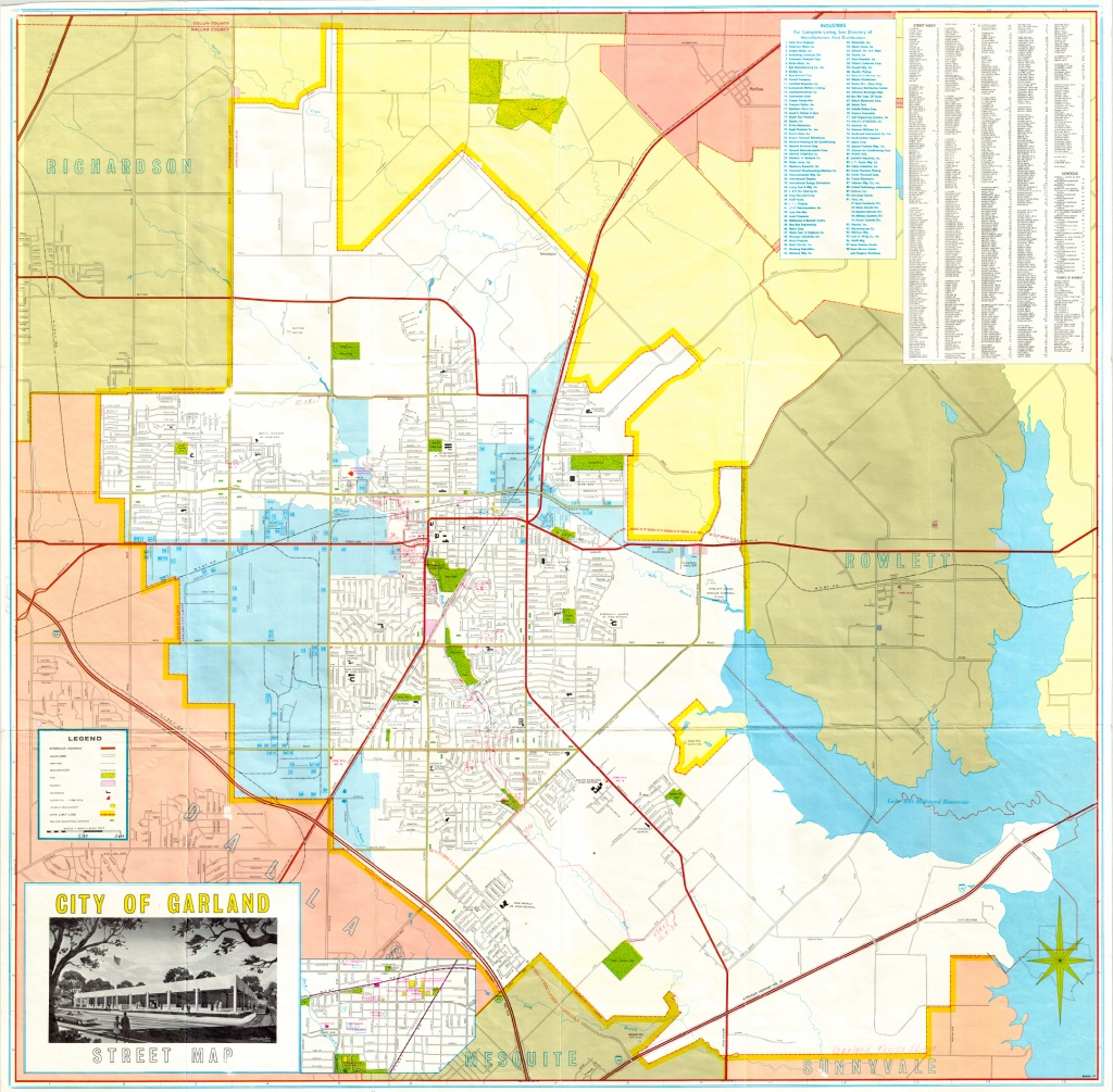 Garland Landmark Society - City Map, Garland Texas 1968-1970 - Garland Texas Map