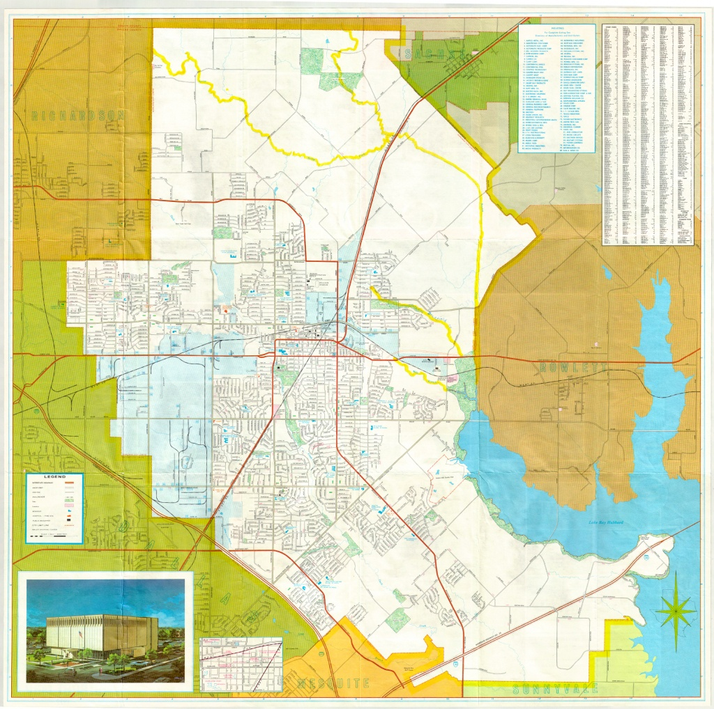 Garland Landmark Society - City Map, Garland Texas 1972 - Garland Texas Map