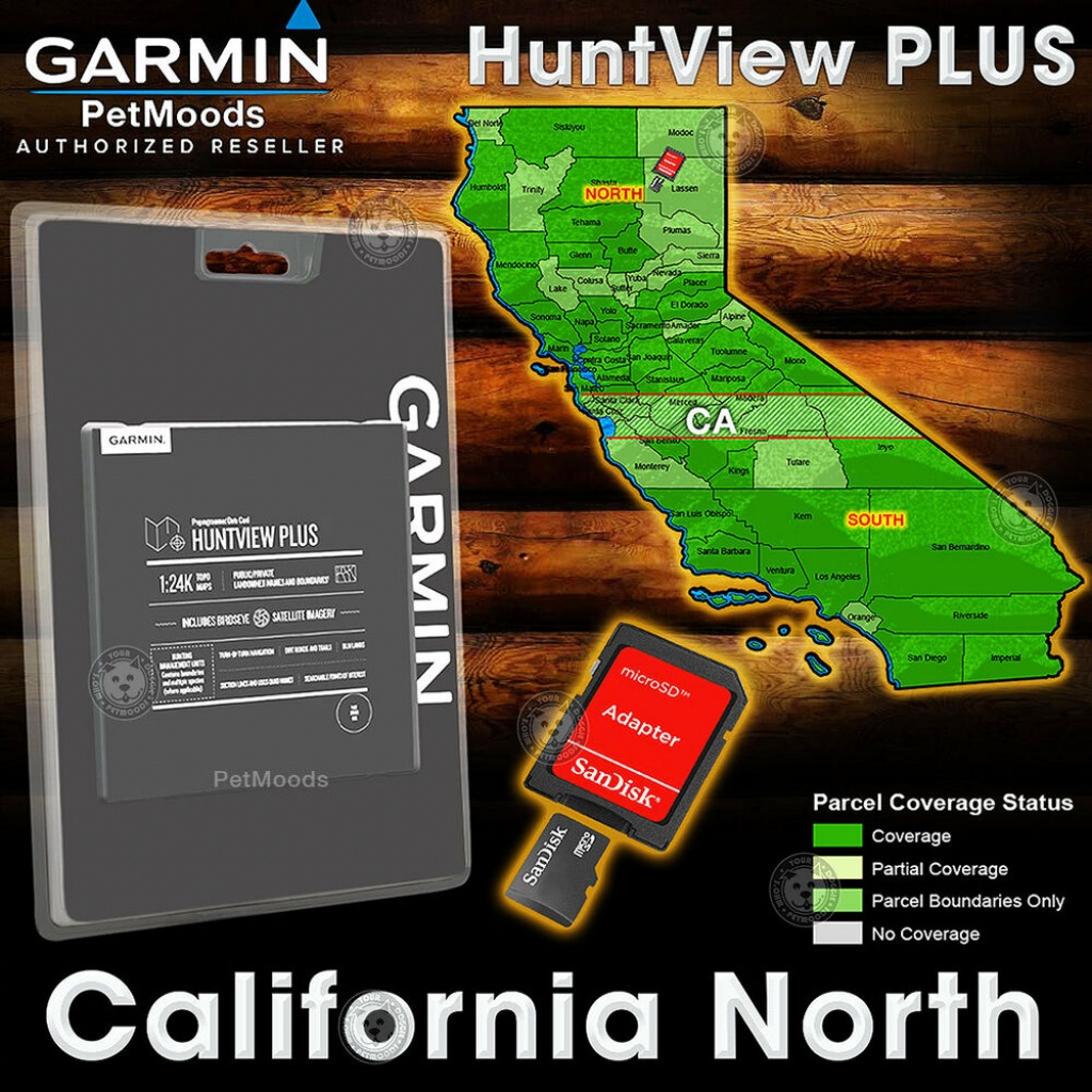 Garmin Huntview Plus Map California North - Microsd Birdseye - Garmin California Map