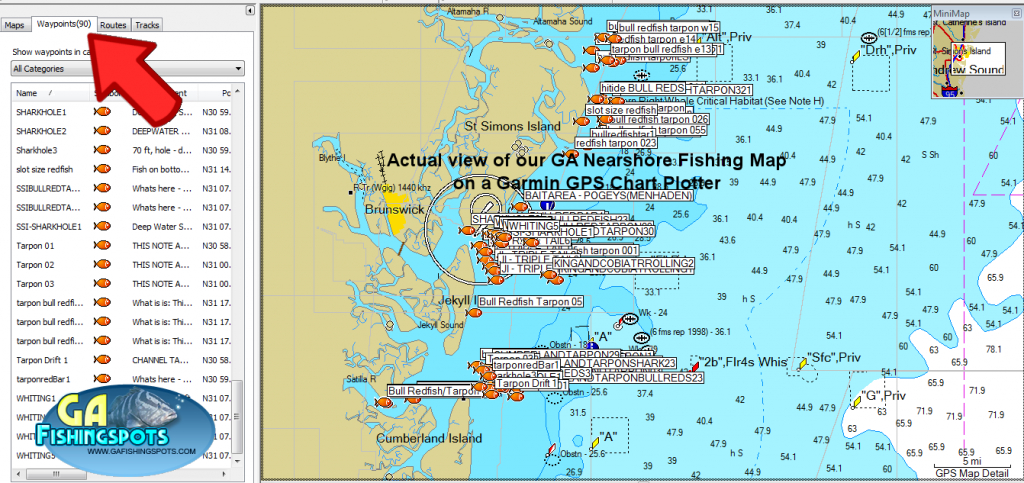 Garmin Saltwater Fishing Maps « Guide To Coastal Georgia Fishing - Florida Saltwater Fishing Maps