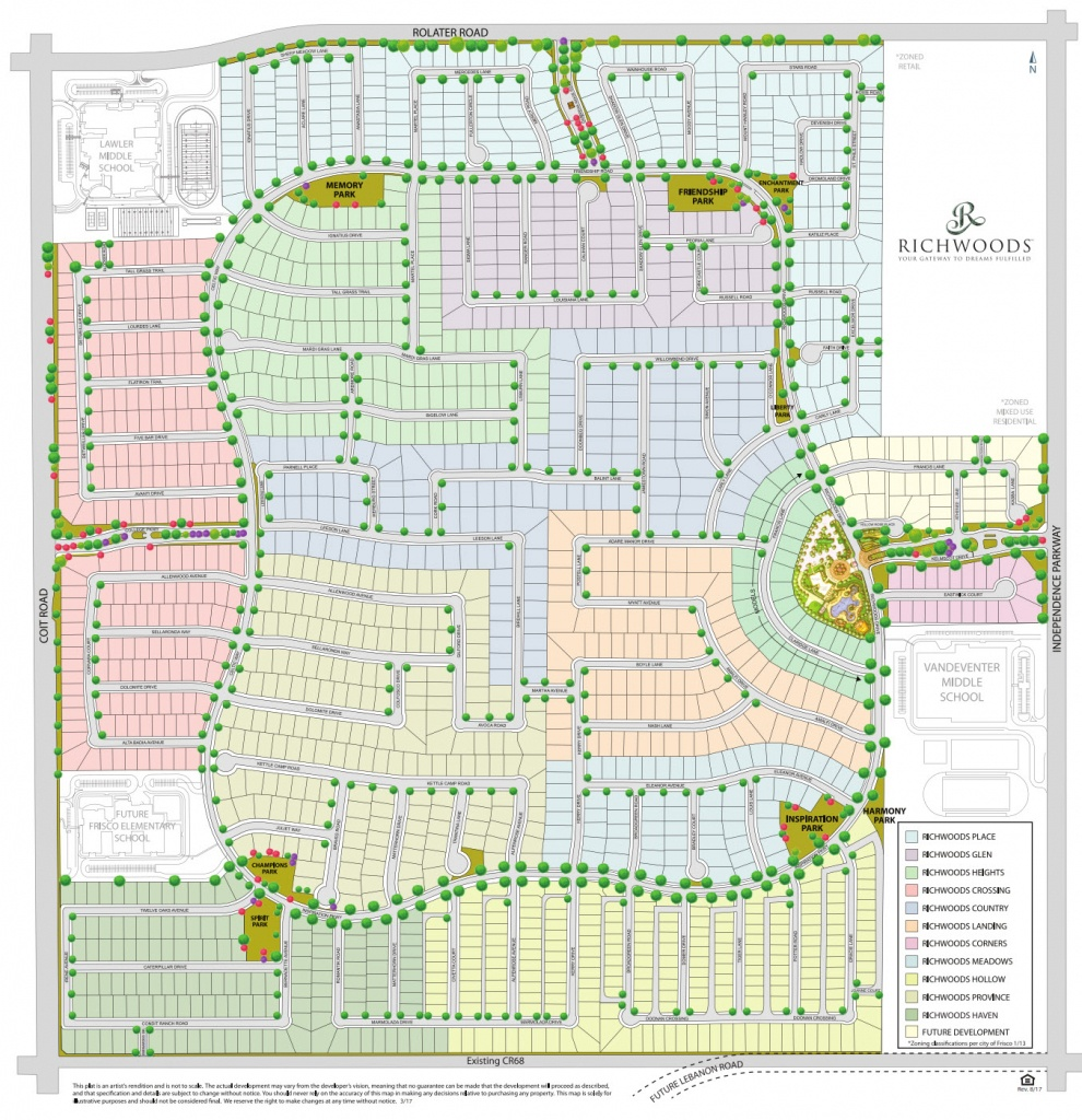 Gated Home Communities In Frisco Tx   Richwoods   Community Map - Frisco Texas Map