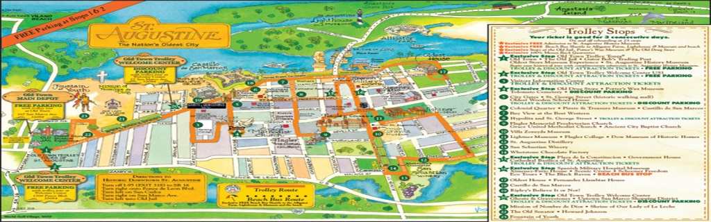 Gay St Augustine | > Play > Attractions - St Augustine Florida Map Of Attractions