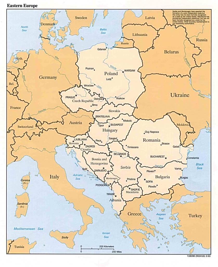 General Map Of Eastern Europe - Printable Map Of Eastern Europe