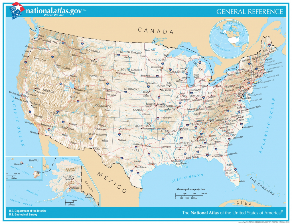 General Reference Printable Map - Printable Map Of