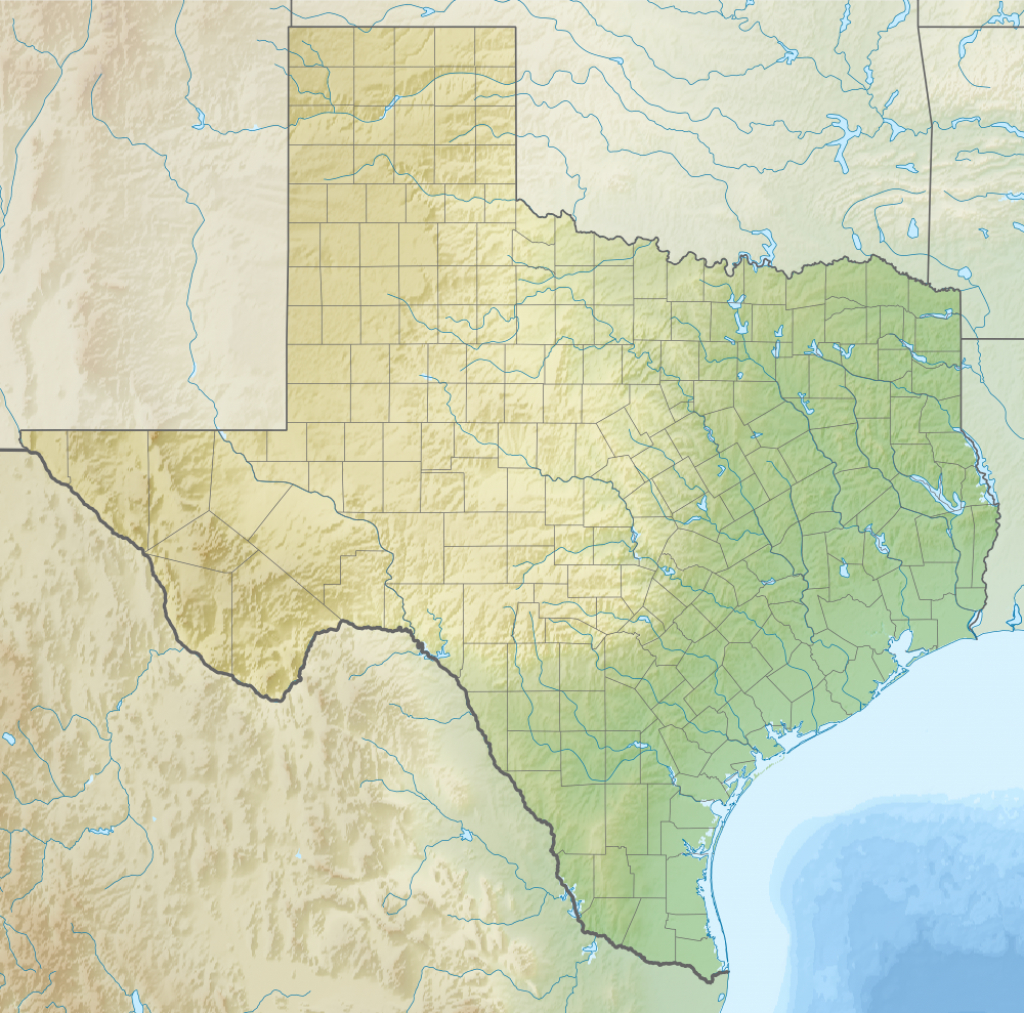 Geography Of Texas - Wikipedia - Map Of South Texas Coast