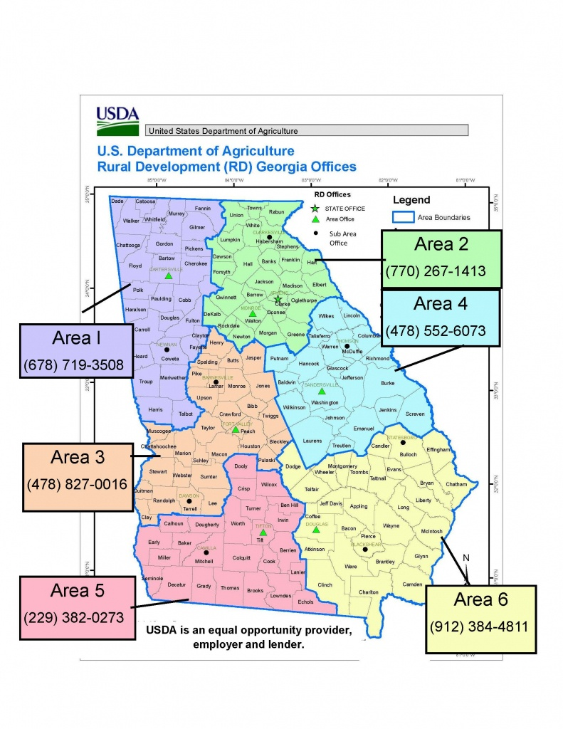 Georgia Contacts | Usda Rural Development - Usda Loan Map Texas