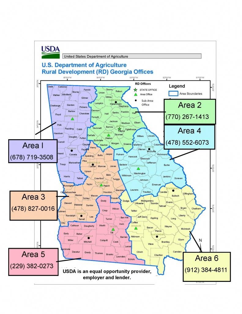 Georgia Contacts | Usda Rural Development - Usda Rural Development Map Texas