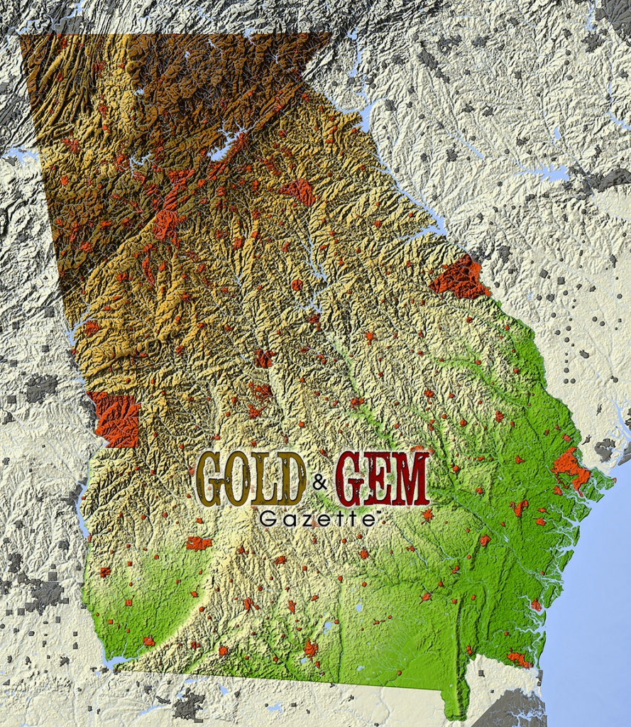 Georgia Prospecting – Gold And Gem Gazette Magazine - California Gold Prospecting Map