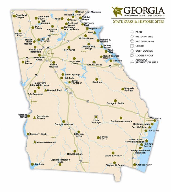 Georgia State Map Printable