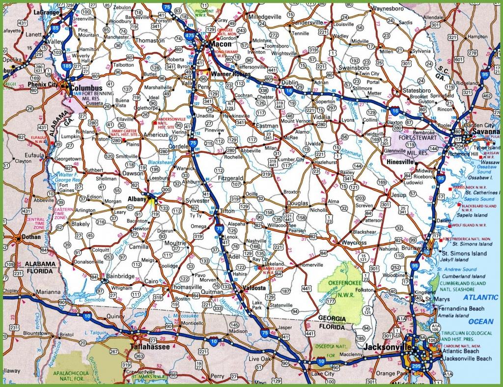Georgia State Maps | Usa | Maps Of Georgia (Ga) - Road Map Of Georgia And Florida