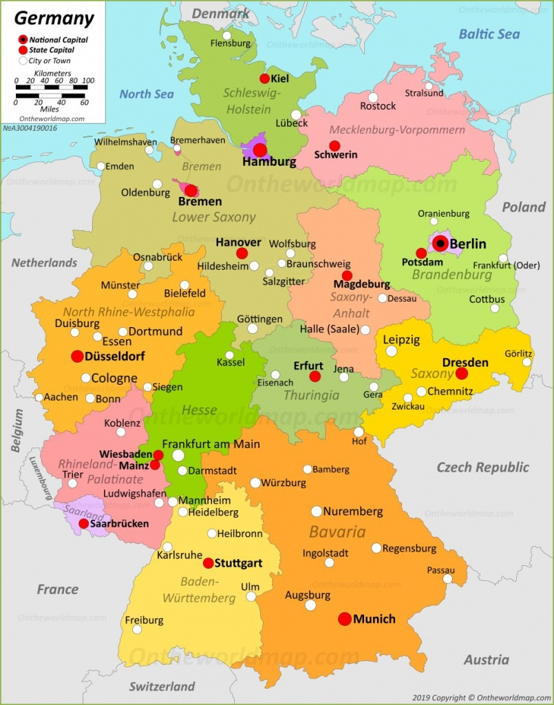 Germany Maps   Maps Of Germany - Printable Map Of Germany