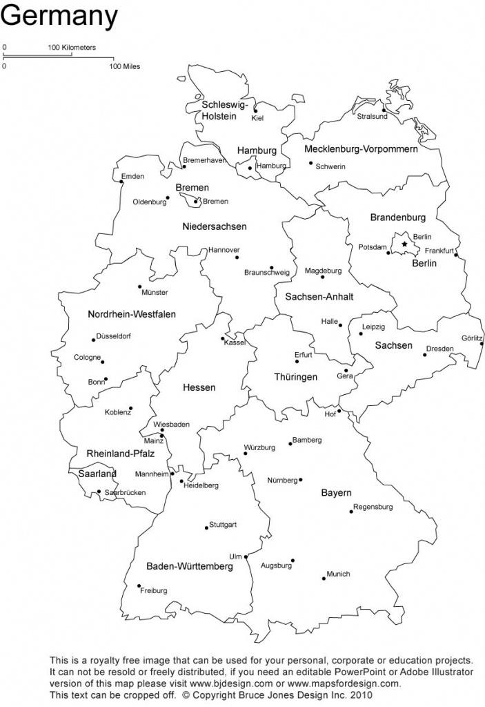 Germany Printable, Blank Map, Bonn, Berlin, Europe, Royalty Free - Printable Map Of Germany