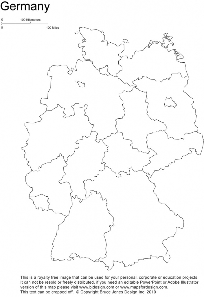 Germany Printable, Blank Maps, Outline Maps • Royalty Free - Free Printable Map Of Germany