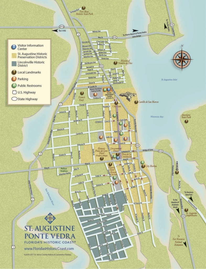 Get To Know Downtown St. Augustine With Our Printable Maps! | St - St Augustine Florida Map Of Attractions