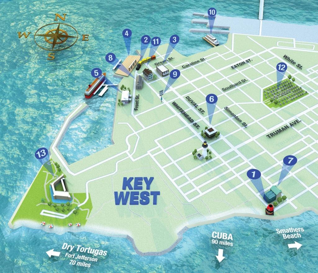 Getting Around Key West | Key West Florida Weekly | Key West News - Printable Map Of Key West