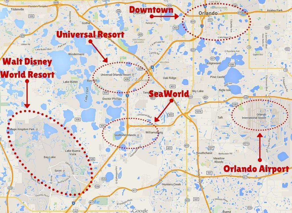 Getting Around The Orlando Theme Parks | Disney | Orlando Theme - Map Of Amusement Parks In Florida
