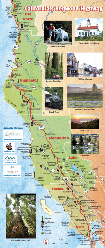 Getting To The North Coast Region | Northcoastca - Redwoods Northern California Map