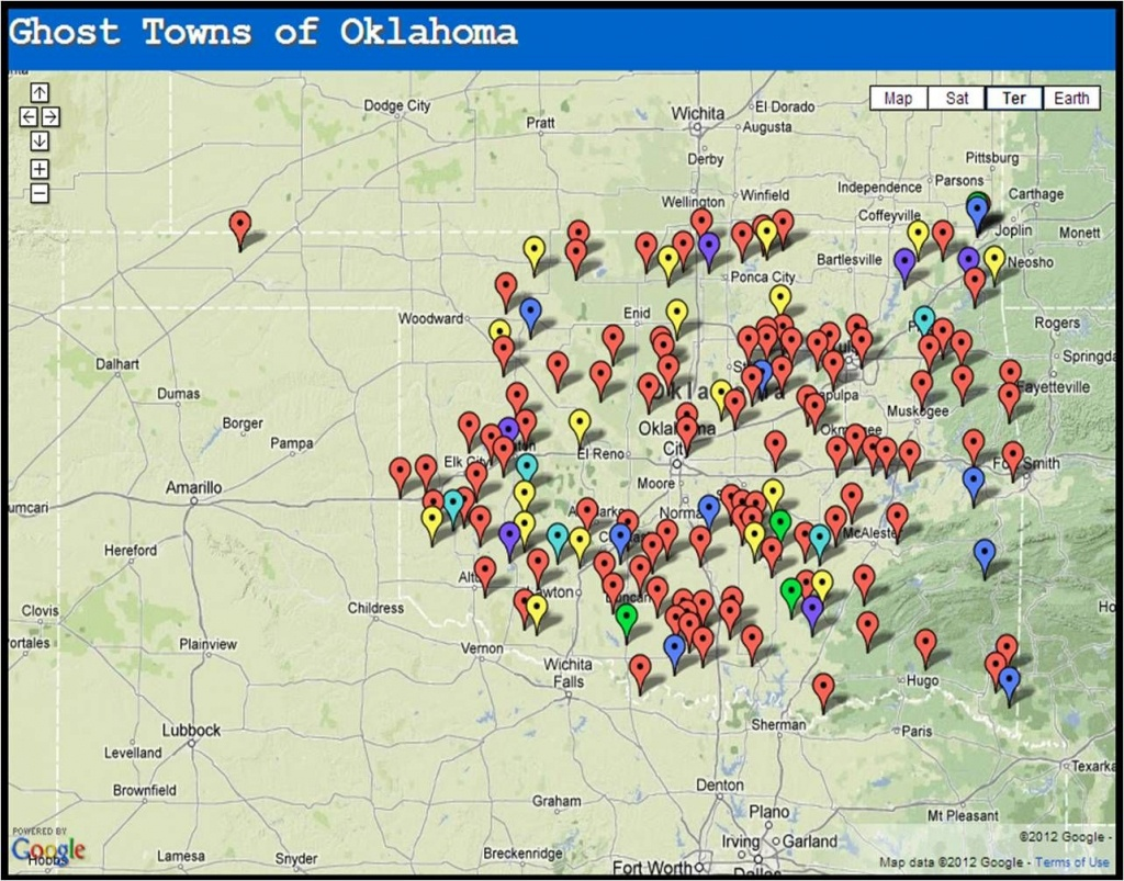 Ghost Towns Of Oklahoma..pinning To Look At On Computer. Can't See - Texas Ghost Towns Map