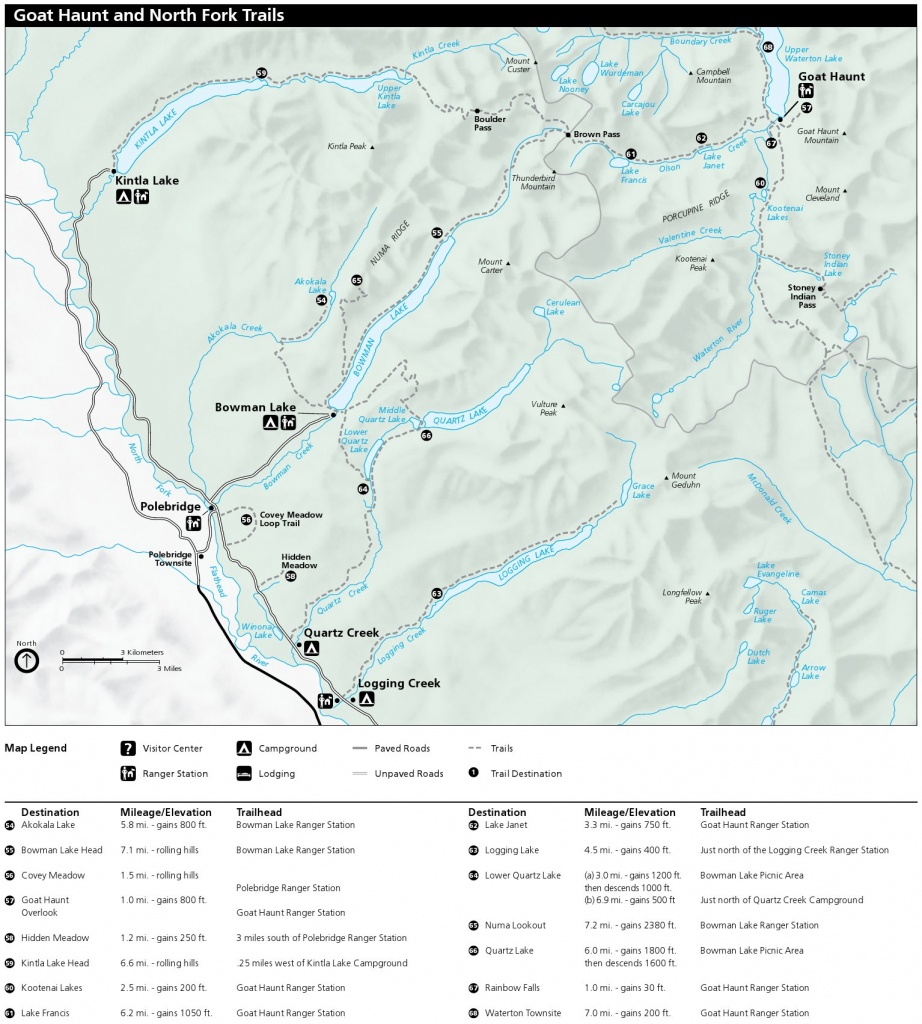 Glacier Maps | Npmaps - Just Free Maps, Period. - Printable Map Of Glacier National Park
