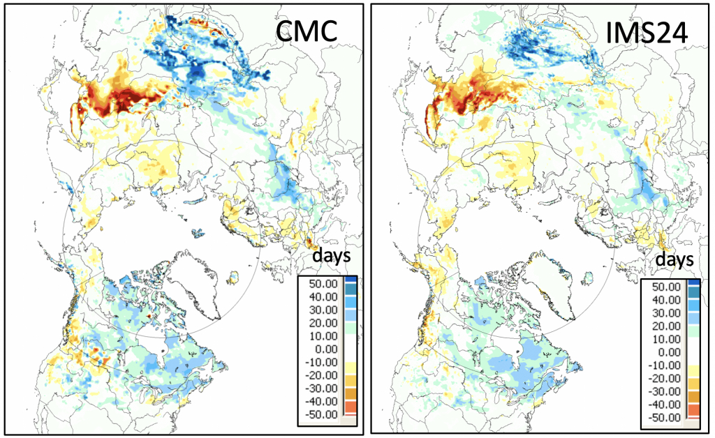 Global Cryosphere Watch - Snow Assessment - Snow Level Map California
