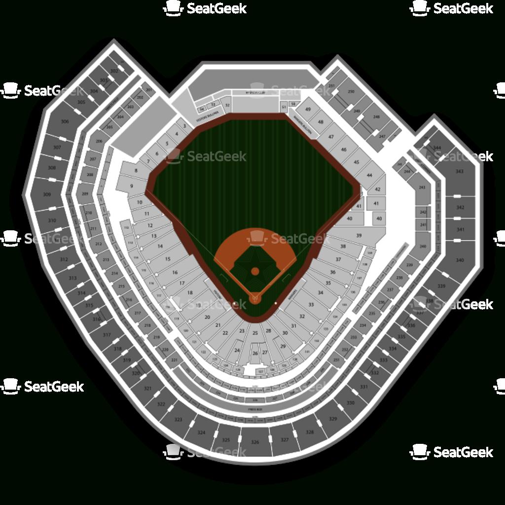 Globe Life Park Seating Chart   Seatgeek - Texas Rangers Stadium Seating Map