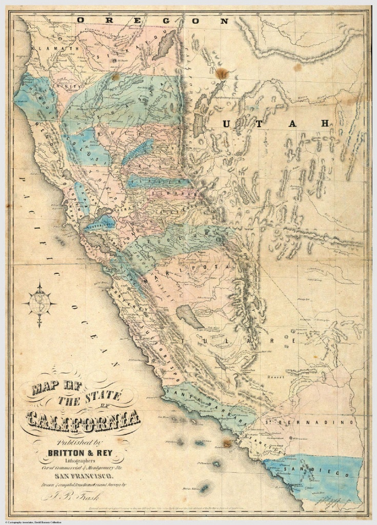 Gold Rush California Map | Sitedesignco - Gold In California Map