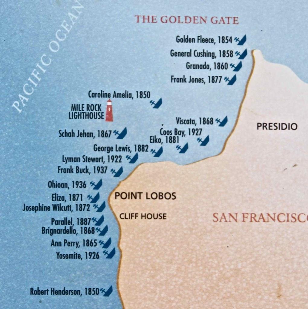 Golden Gate Shipwrecks | San Francisco, California | Flickr - California Shipwreck Map