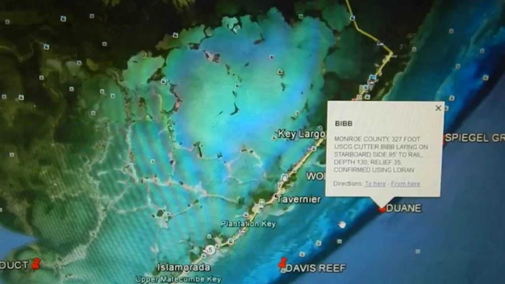 Google Earth Fishing - Florida Keys Reef Overview - Florida Fishing Reef Map