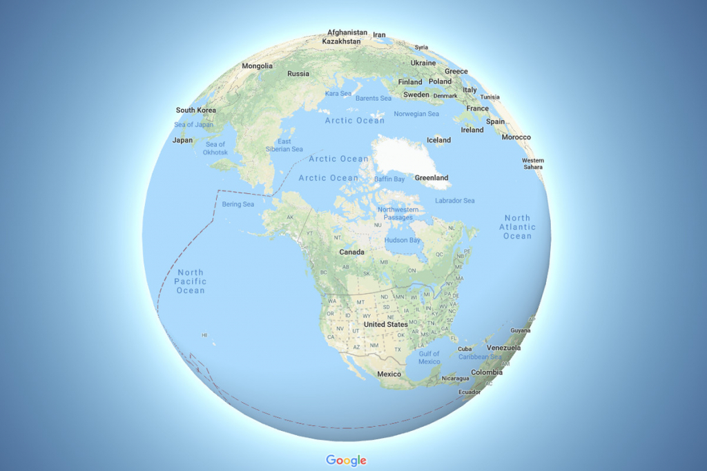 Google Maps Now Depicts The Earth As A Globe - The Verge - Google Earth Printable Maps