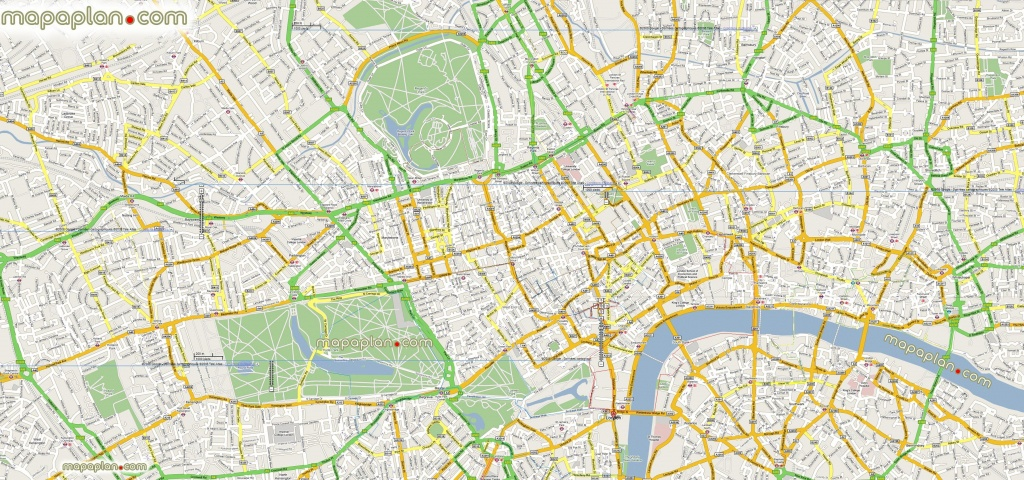 Google Maps Offline Mashup Prints London Top Tourist Attractions Map - Printable Google Maps