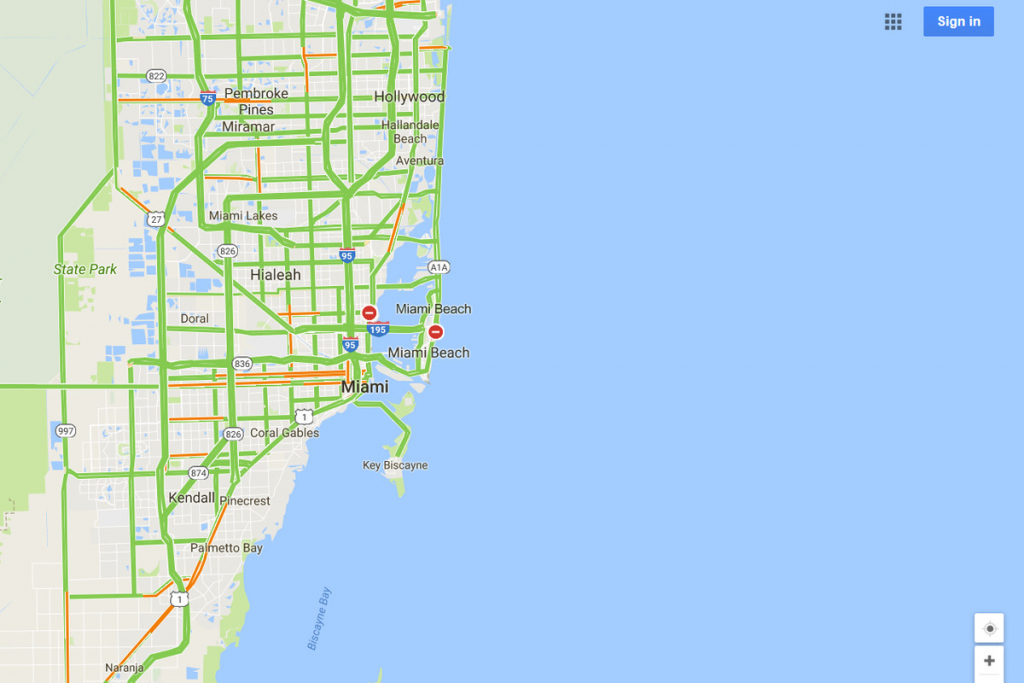 Google Maps Will Mark Closed Roads Live As Hurricane Irma Hits - Google Maps South Beach Florida