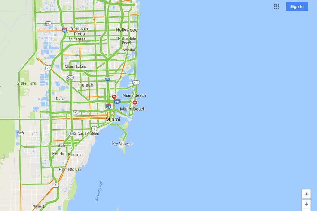 Google Maps Will Mark Closed Roads Live As Hurricane Irma Hits - Miami Florida Google Maps